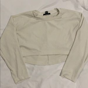 cream long sleeve sweater top